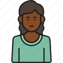 avatar, college, female, girl, student, woman, young icon