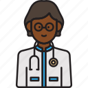 doctor, female, physician, stethoscope, woman icon