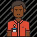 avatar, employee, male, man, nametag icon