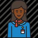 stewardess, attendant, female, flight, woman
