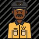 driver, male, taxi, cab, man, uniform