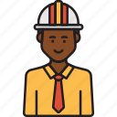 construction, engineer, helmet, male, man, professional icon