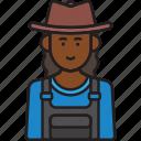 farmer, female, hat, overalls, woman