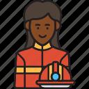 female, firefighter, fire, helmet, rescue, woman