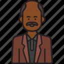 grandfather, grandad, male, man, moustache, old icon