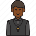 male, priest, cross, man, pastor, religion icon