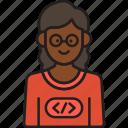 female, programmer, coder, developer, glasses, nerd, woman