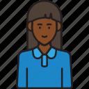 avatar, female, staff, user, woman icon