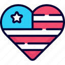 heart, usa, independence day, love, like, favorite, romantic