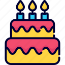 cake, candles, independence day, usa, celebration, pastry cake, desert
