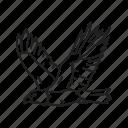 america, american eagle, bald eagle, bird, eagle, independence, usa