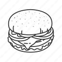 burger, cheese burger, food, hamburger, sandwich, sandwich burger, tomatoes icon