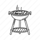 barbeque, cooking, grill, griller, griller with stand, meat, smoke icon