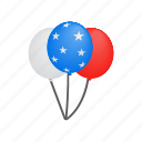 american, baloon, holiday, independence, isometric, july, usa icon