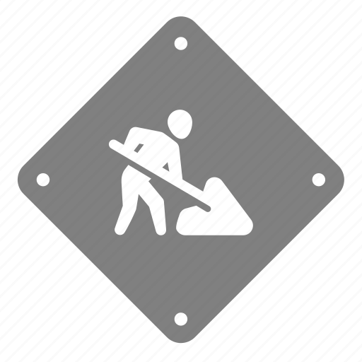 construction, dig, digging, labor, sign, under construction, worker icon