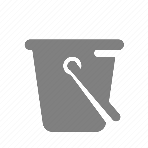 bucket, cleaning, construction icon