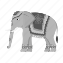 animal, elephant, indian, mammal, nature, wild, zoo icon