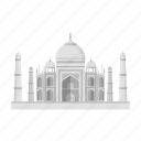 architecture, building, india, interesting, palace, place, taj mahal icon