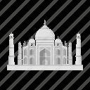 architecture, building, india, interesting, palace, place, taj mahal