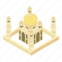 cartoon, dome, historical, india, mahal, taj, tourism icon