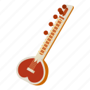 play, sitar, wood, lute, historical, music, cartoon
