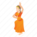 cartoon, dance, dancing, girl, india, indian, woman icon