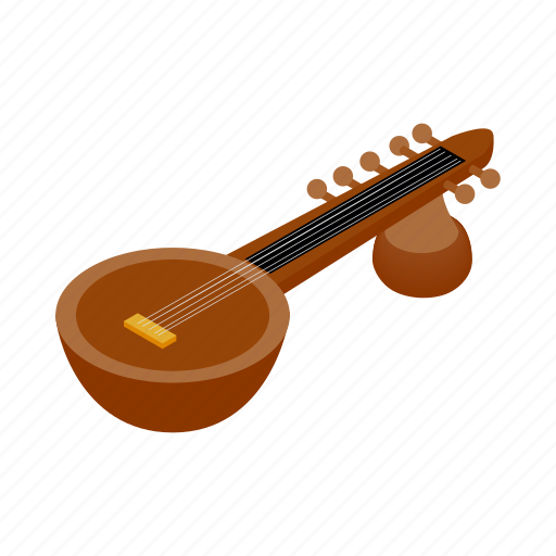 india, indian, instrument, isometric, music, musical, string icon