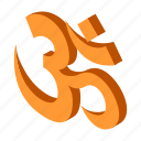 isometric, yoga, hindu, india, om, religion, religious