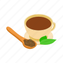 drink, dry, herbal, india, isometric, mint, tea icon