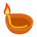 candle, candlelight, cup, flame, indian, isometric, light icon