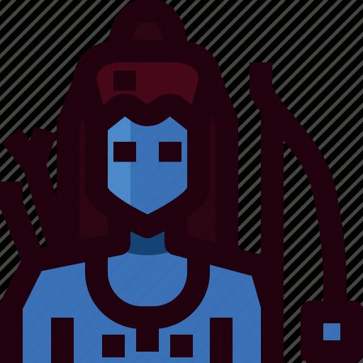 avatar, god, hindu, india, man, person, rama icon