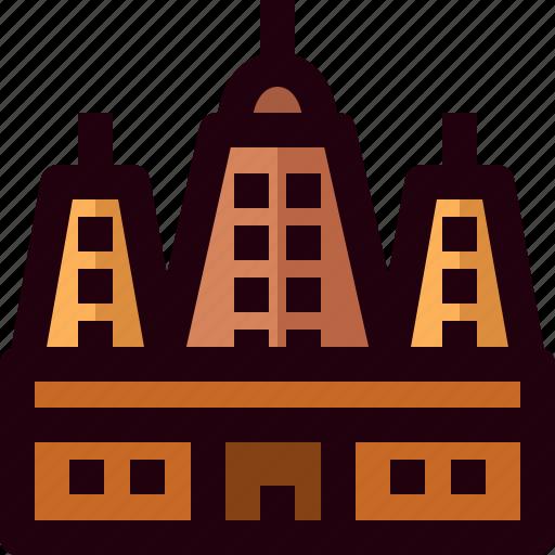 architecture, bodh gaya, building, india, landmark, mahabodhi, temple icon