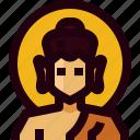 avatar, buddha, buddhism, india, man, person, religion icon