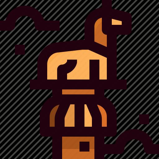 ashoka, india, pillars icon
