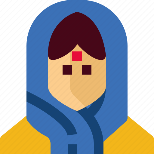 avatar, cloths, girl, india, person, tradition, woman icon