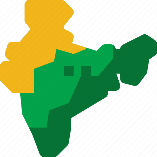 country, india, land, location, map, national, world icon