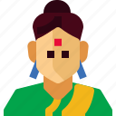 avatar, female, india, people, person, tradition, woman icon