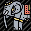 africa, animal, elephant, indian icon