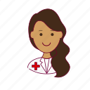 emprego, enfermeira, indian woman professions, job, mulher, nurse, professions, trabalho, work icon