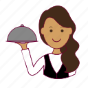 .svg, emprego, garçonete, indian woman professions, job, mulher, professions, trabalho, waitress, work icon