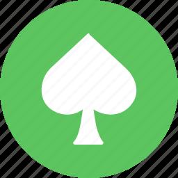 blackjack, card, casino, gamble, playing, poker, spade icon