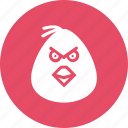 angry, bird, cartoon, emotion, game, mobile icon