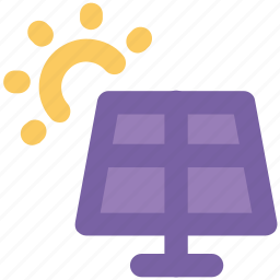 electric, solar cell, solar energy panel, solar panel, solar system, sun solar icon