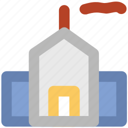 corporate, estate, factory, factory building, industry, mill, real estate icon