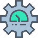 factory, industry, manufacture, meter, production icon