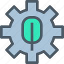 factory, gear, industry, manufacture, production icon