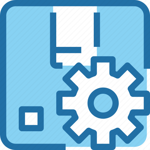factory, gear, industry, management, manufacture, product icon
