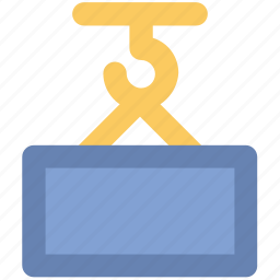 container lifter, lifter, material lifter, weight holder, weight lifter, work tool icon
