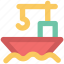 boat, cargo, cargo ship, container, container ship, logistics, ship icon