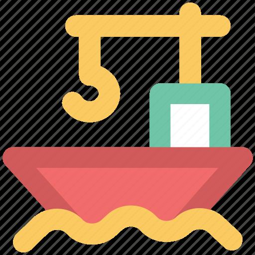 boat, cargo, cargo ship, container, container ship, logistics, ship icon